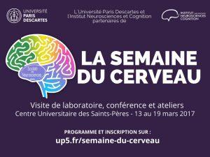 Semaine du cerveau à Paris Descartes @ Centre Universitaire des Saints-Pères de l'Université Paris Descartes - Salle Leduc | Paris | Île-de-France | France