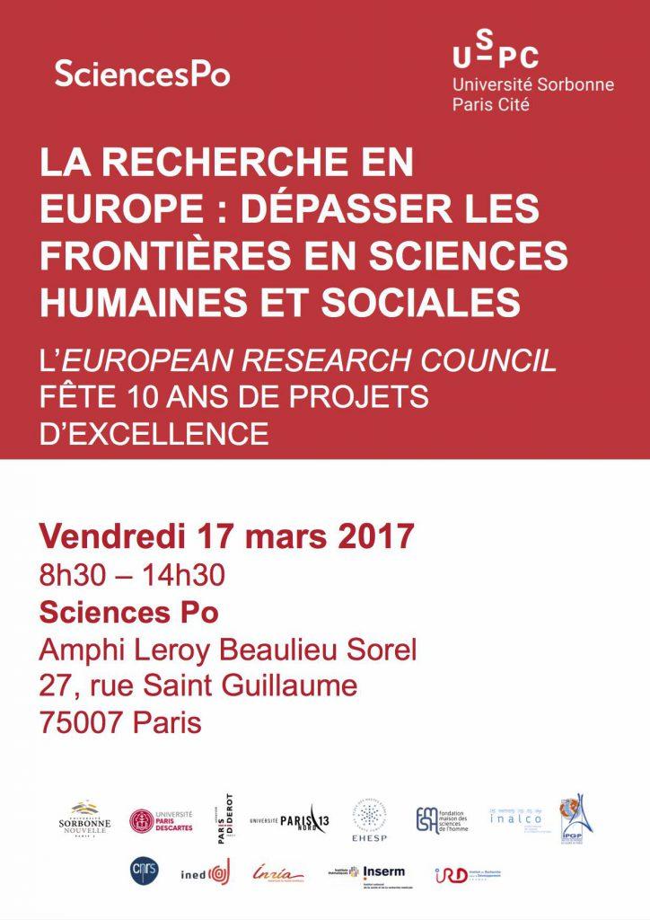 ERC en fête : dépasser les frontières en sciences humaines et sociales @ Sciences Po | Paris | Île-de-France | France