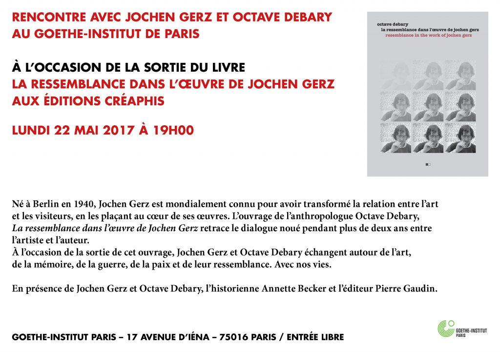 Rencontre avec Jochen Gerz et Octave Debary au Goethe Institut de Paris