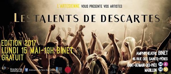 les Talents de Descartes @ Amphithéâtre Binet - Centre universitaire des Saints-Pères | Paris | Île-de-France | France