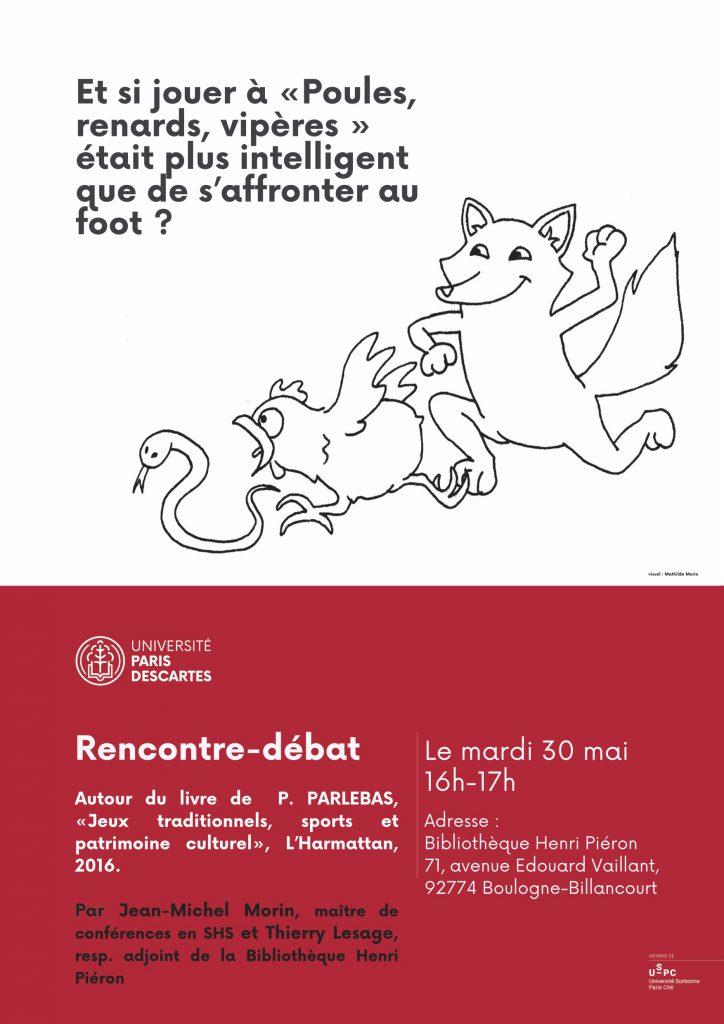 Rencontre-débat autour du livre de P. Parlebas, Jeux traditionnels, sports et patrimoine culturel @ Bibliothèque Henri Piéron | Boulogne-Billancourt | Île-de-France | France