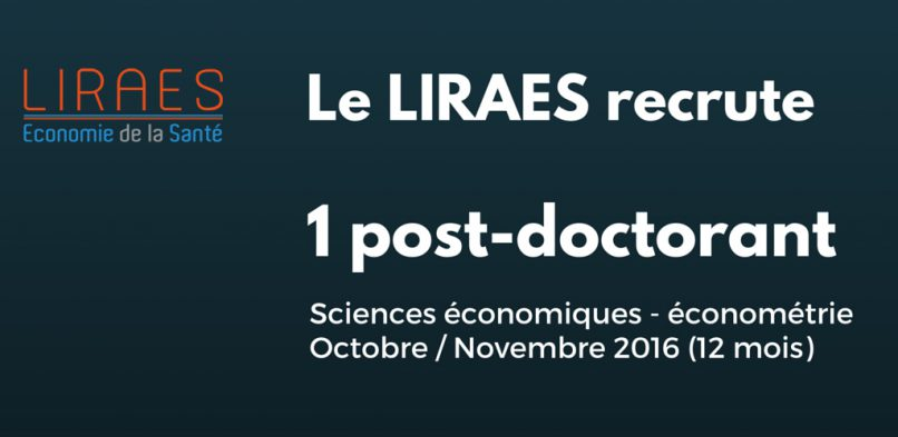 Recrutement Post-Doctorant 2016/2017