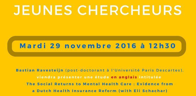 Séminaire « jeunes chercheurs » – Mardi 29 novembre 2016 à 12h30 Exemplaire