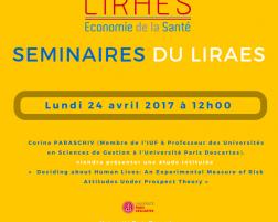 Les séminaires du LIRAES – Lundi 24 avril 2017 à 12h00