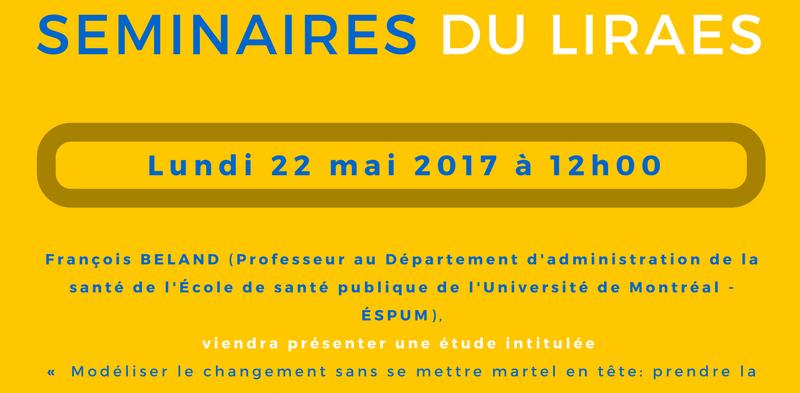 Les séminaires du LIRAES – Lundi 22 mai 2017 à 12h00