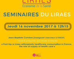 Les séminaires du LIRAES – Jeudi 16 novembre 2017 à 12h15