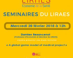Les séminaires du LIRAES – Mercredi 28 février 2018 à 12h00