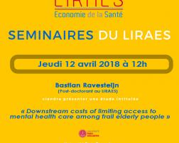 Les séminaires du LIRAES – Jeudi 12 avril 2018 à 12h00