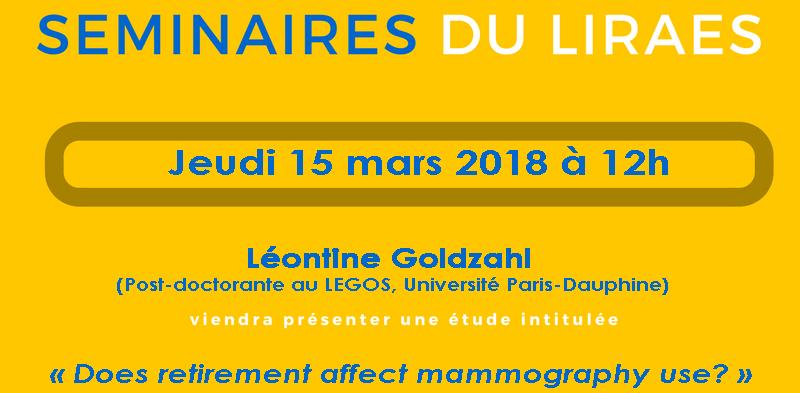 Les séminaires du LIRAES – Jeudi 15 mars 2018 à 12h00