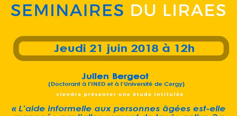 Les séminaires du LIRAES – Jeudi 21 juin 2018 à 12h15