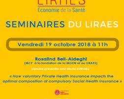 Les séminaires du LIRAES – Vendredi 19 octobre 2018 à 11h