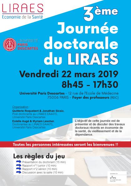 3ème journée doctorale du LIRAES