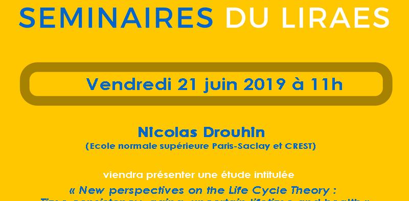 Les séminaires du LIRAES – Vendredi 21 juin 2019 à 11h