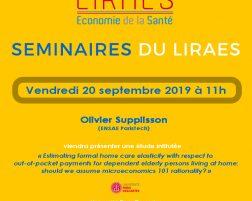 Les séminaires du LIRAES – Vendredi 20 septembre 2019 à 11h