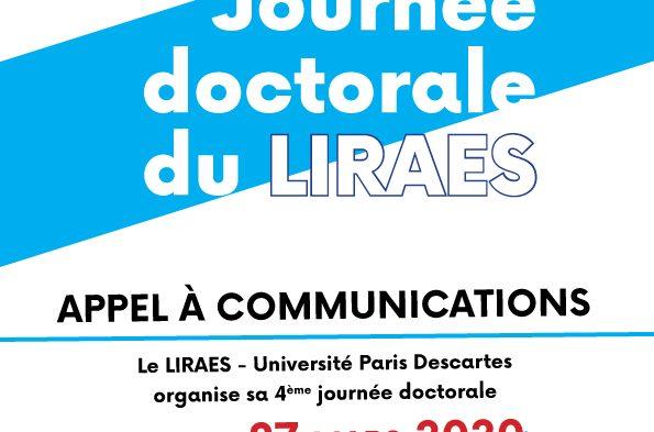 4ème journée doctorale du LIRAES – Appel à com' en cours