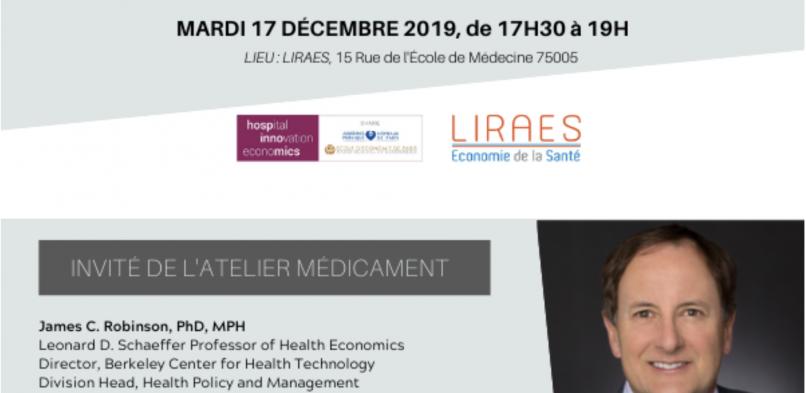 SÉMINAIRE MÉDICAMENT LE MARDI 17 DÉCEMBRE – HOSPINNOMICS/LIRAES