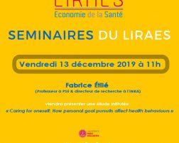Les séminaires du LIRAES – Vendredi 13 décembre 2019 à 11h