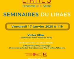 Les séminaires du LIRAES – Vendredi 17 janvier 2020 à 11h