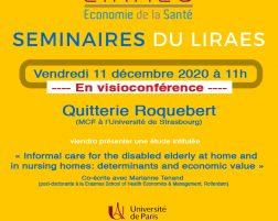 Les séminaires du LIRAES – Vendredi 11 décembre 2020 à 11h en visio