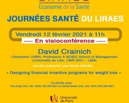Les séminaires du LIRAES – Vendredi 12 février 2021 à 11h en visio