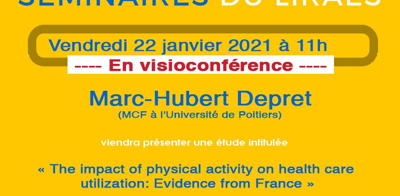 Les séminaires du LIRAES – Vendredi 22 janvier 2021 à 11h en visio