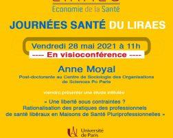Les séminaires du LIRAES – Vendredi 28 mai 2021 à 11h en visio