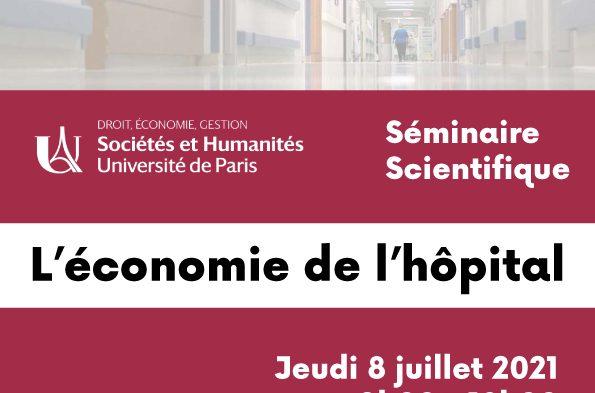 Séminaire scientifique sur l'économie de l'hôpital – 8 juillet 2021