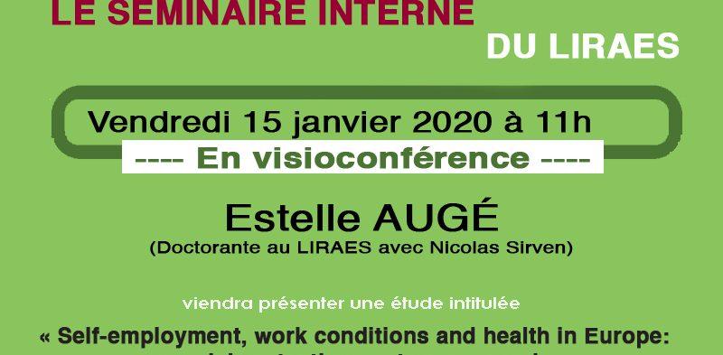 Café recherche – 15 janvier 2021 – Estelle Augé