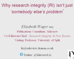 Why Research Integrity isn't just somebody else's problem?