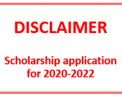 Scholarship application 2020-2022