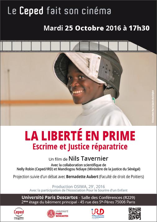 La liberté en prime. Escrime et justice réparatrice @ Centre Universitaire des Saints Pères