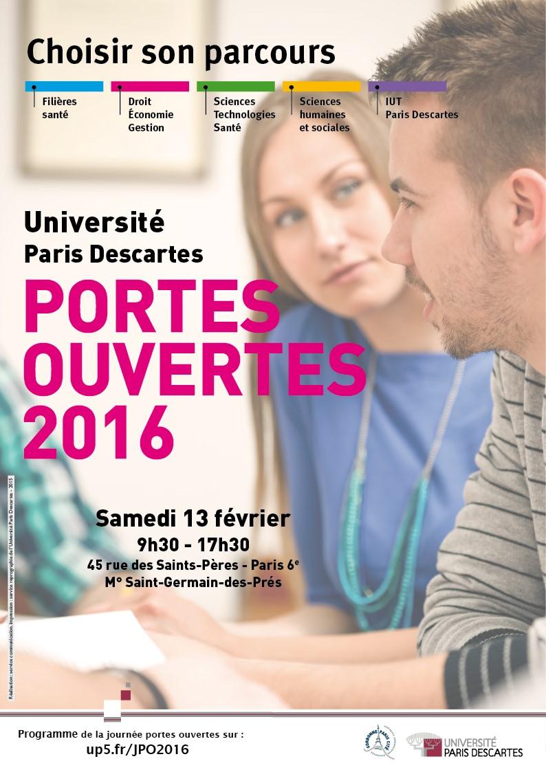 Journées Portes Ouvertes de l'Université Paris Descartes