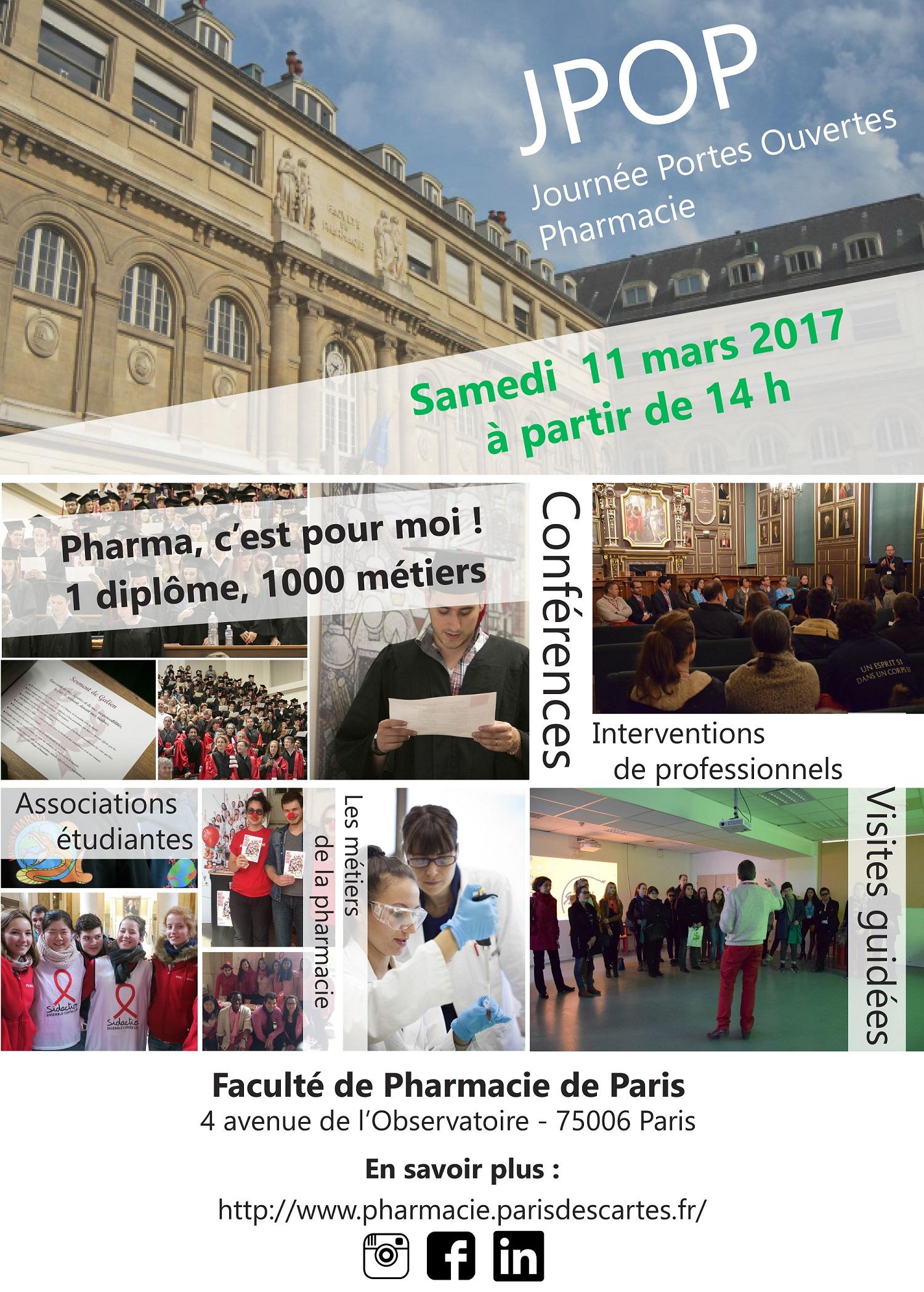 JPO de la Faculté de Pharmacie