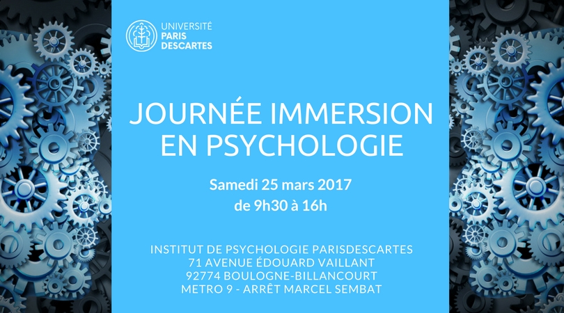 Journée immersion en Psychologie